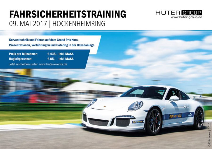 Fahrsicherheitstraining am Hockenheimring