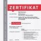 Neues Zertifikat für Kfz Ackmann